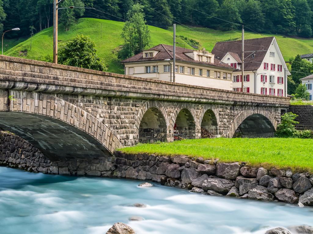 Schwanden - Eisenbahnbrücke über die Linth