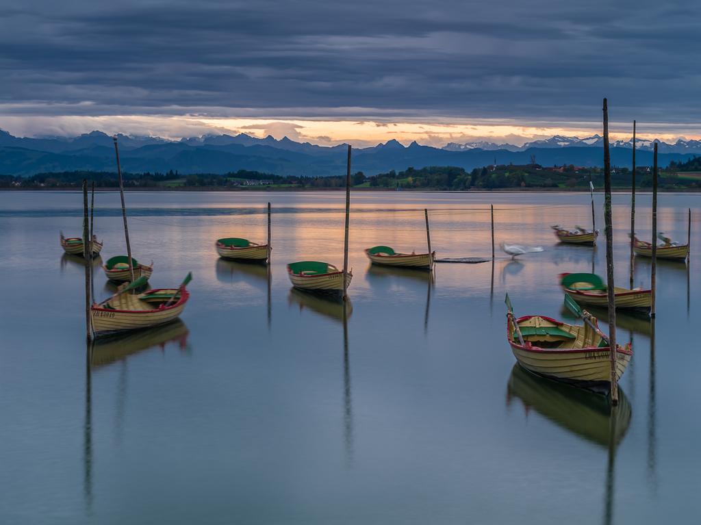 Sonnenaufgang am Hafen Pfäffikon