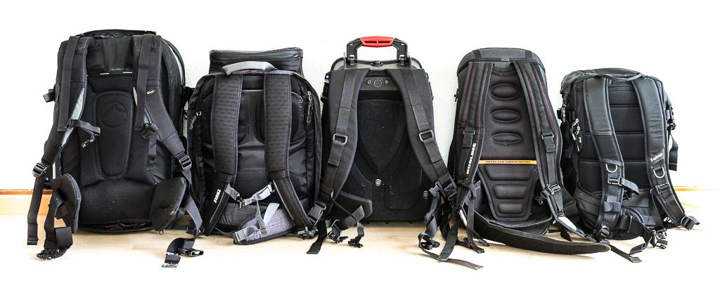 Lowepro Vertex 300, Thule Perspektiv Backpack, HPRC3500, Boblbee Procam500XT, F-Stop Kenti