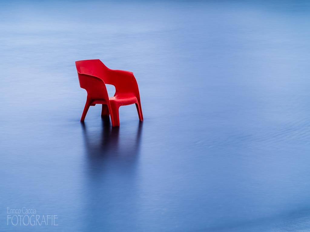 Stuhl im Meer, 150mm, Blende 16, Verschluss 30 Sek, Neutraldichtefilter