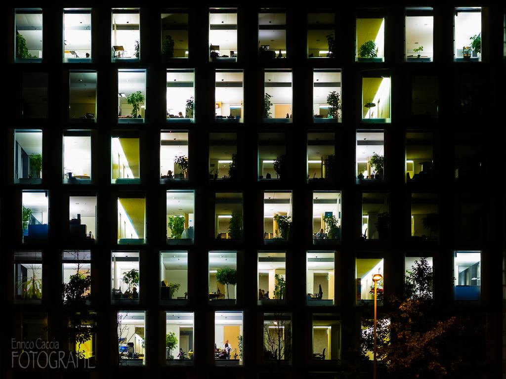 Bürofenster, 55mm, Blende 8, Verschluss ⅕ Sek