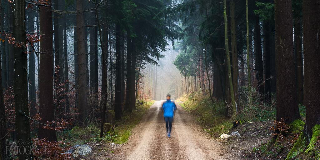 Jogger im Wald