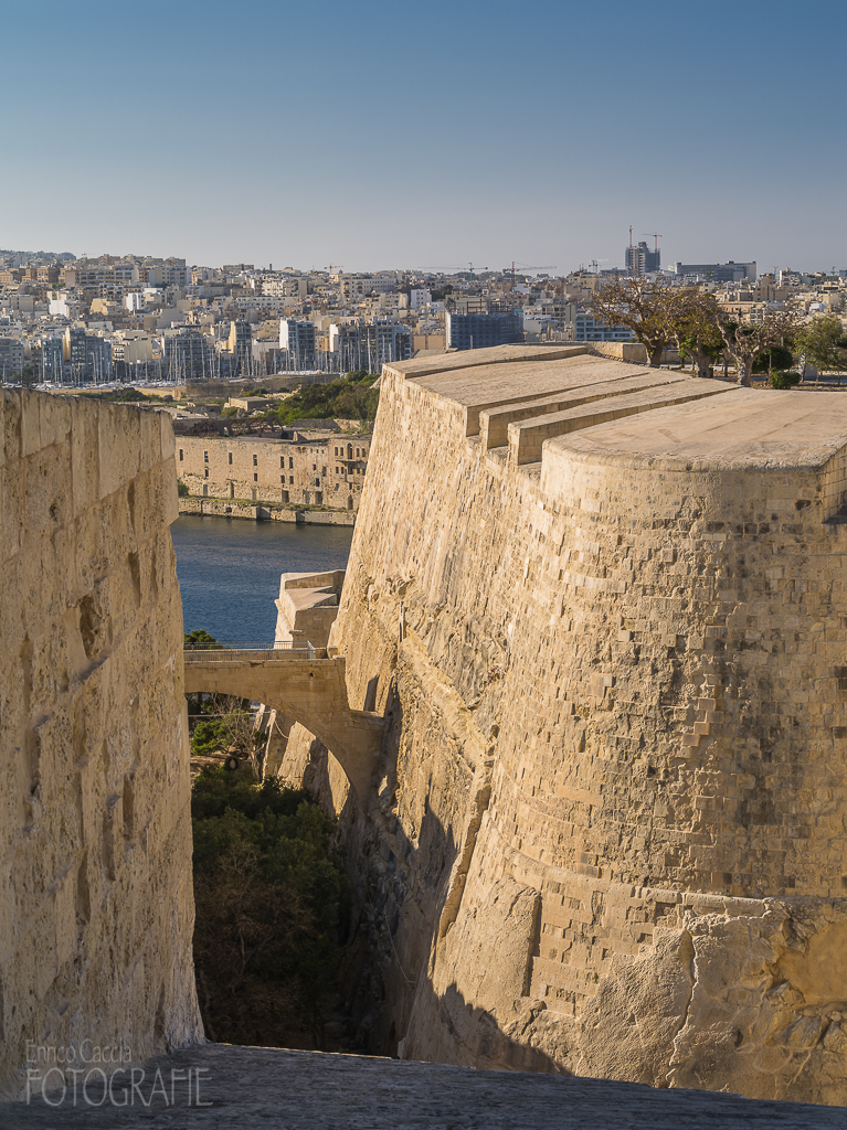 Malta - Valletta Festungsmauer