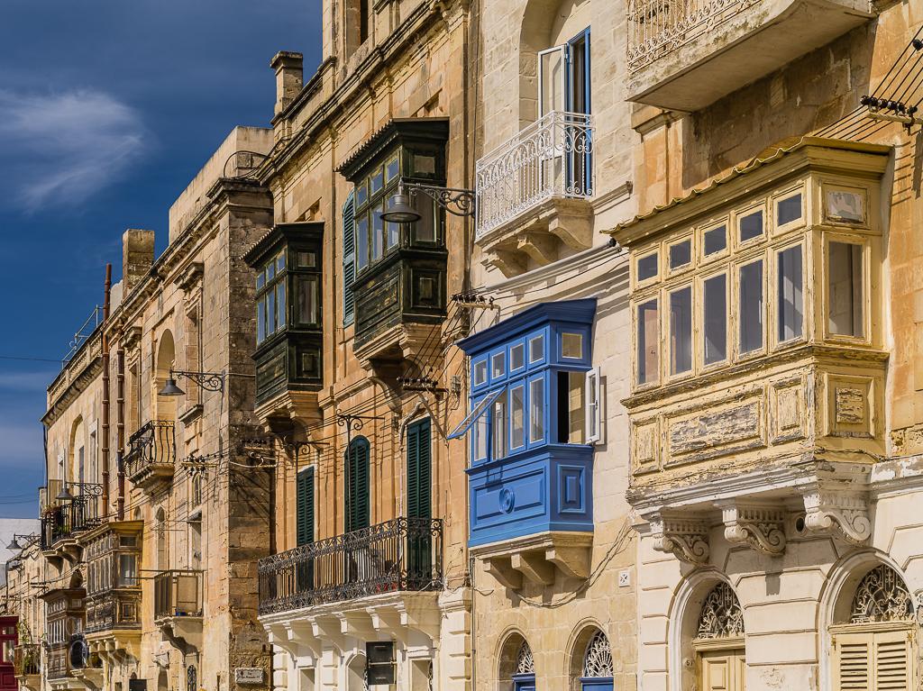 Malta - Fassaden Erker