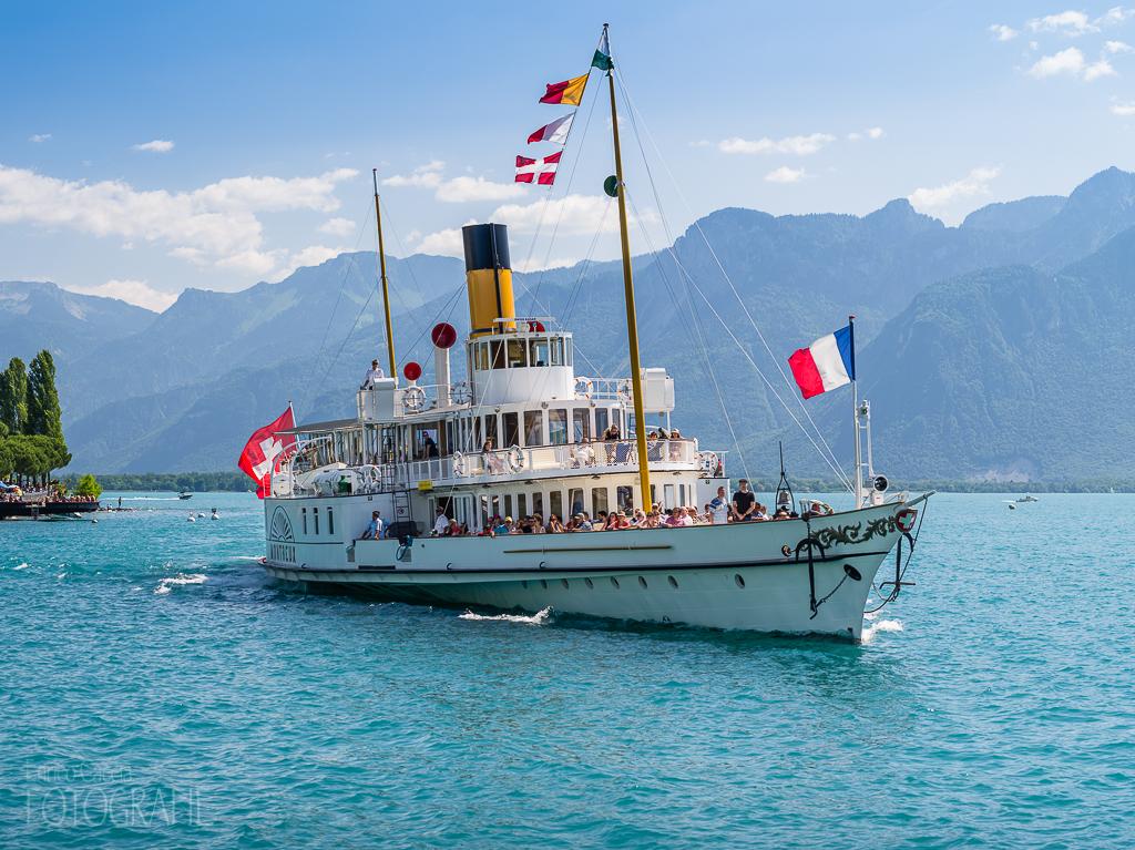 Montreux - Schaufelraddampfer