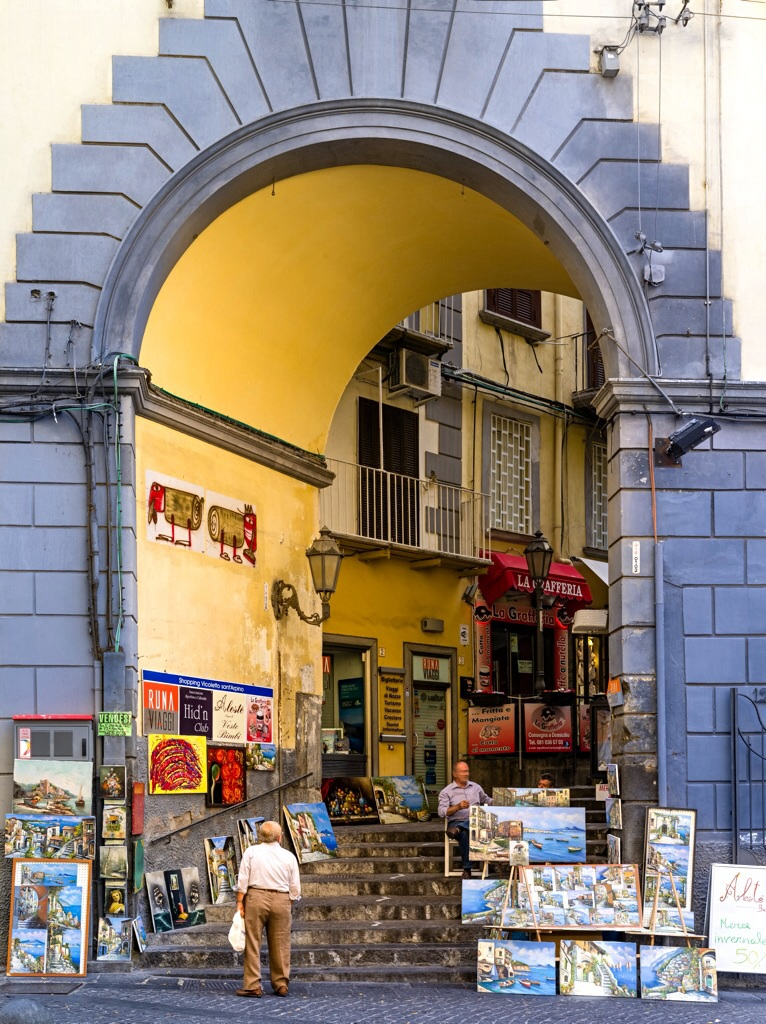 Neapel Strassenszene