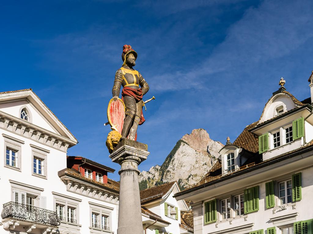 Schwyz - Altstadt mit Mythen