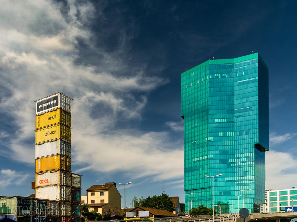 Prime Tower und Freitag Container