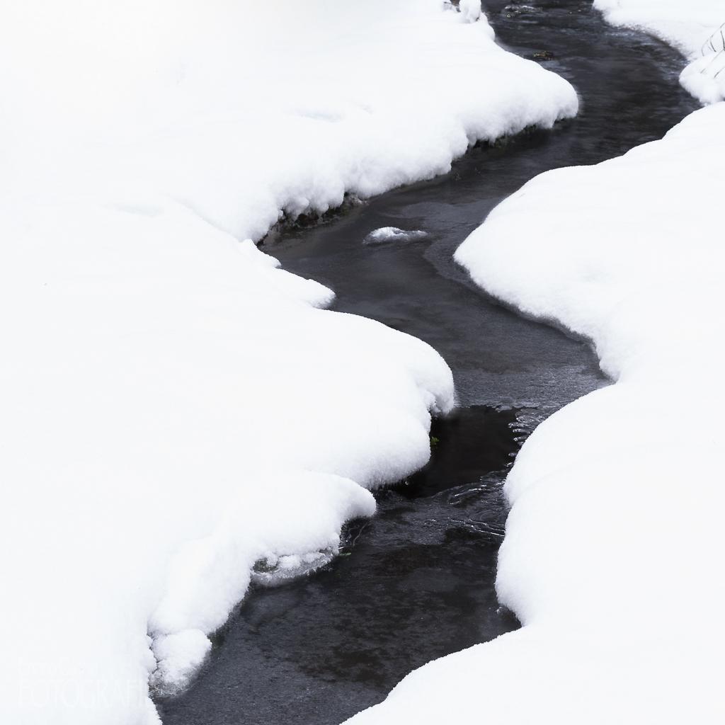 Bachlauf im Schnee