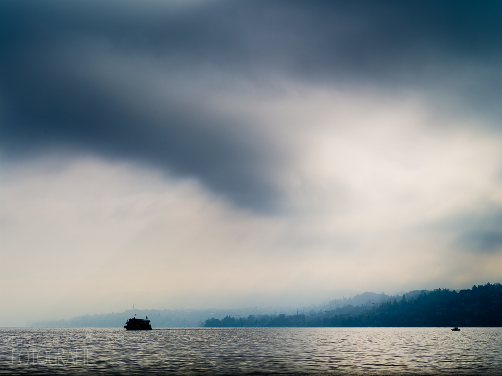 Zürichsee Regenwolke