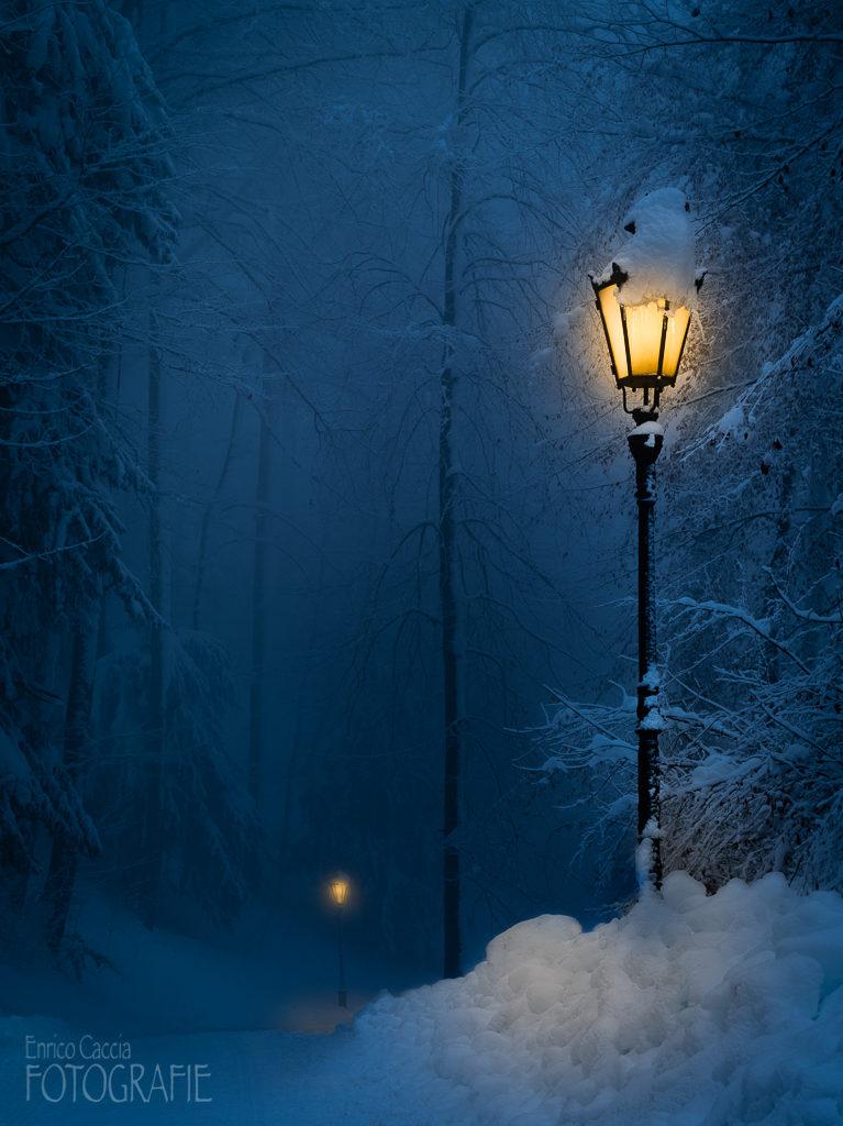 Winternacht Planetenweg