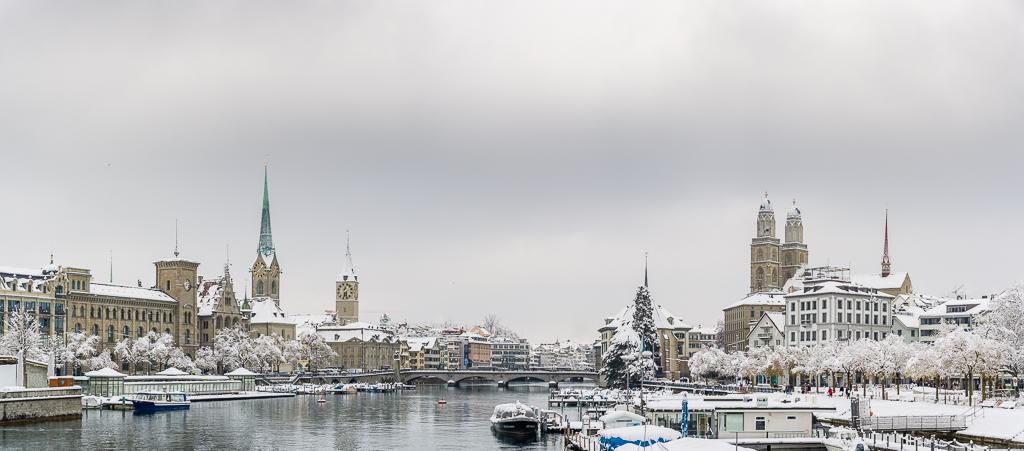 Winterpanorama Zürich